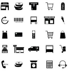 retail icon set vector image