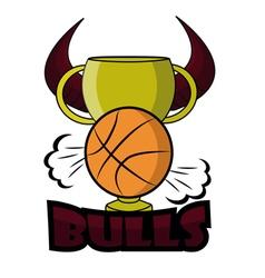 Retro bulls logo vector