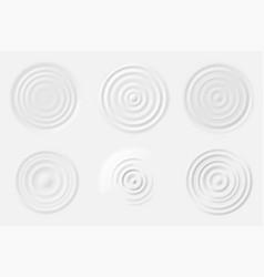 ripple milk top view cream wave circles of vector image