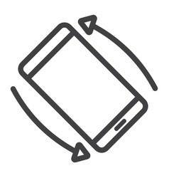Rotate smartphone line icon web and mobile vector
