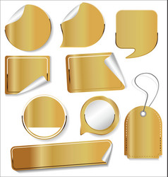 sale stickers and tags golden collection 2 vector image
