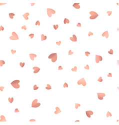 seamless pattern background with pink hearts vector image