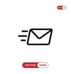 send mail icon vector image