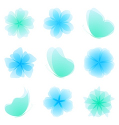 set of nature design elements vector image