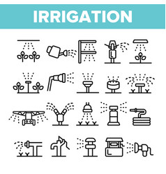sprinklers irrigation technology linear vector image