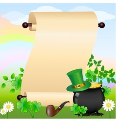 st patricks scroll vector image