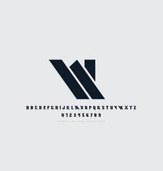 stock stencil-plate sans serif font vector image