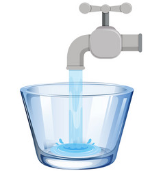 tap water in the glass vector image