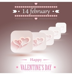 Valentines day design vector image