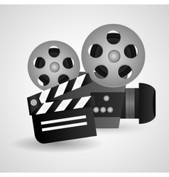 Videocamera cinema and movie design vector