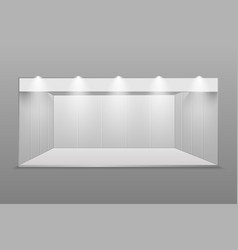 white blank exhibition stand vector image
