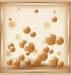 White chocolate balls on abstract background vector