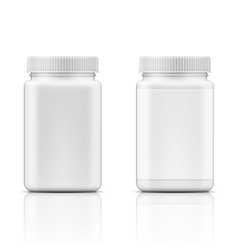 White square plastic bottle for pills vector image