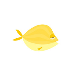 Yellow reef fish cartoon vector