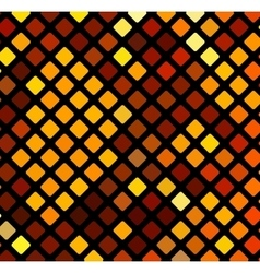 Bright orange mosaic vector image vector image