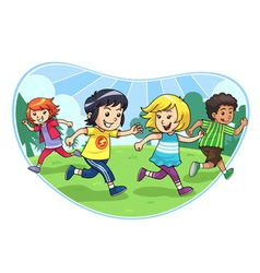Catch And Run Play vector image vector image