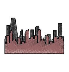 isolated city view vector image vector image