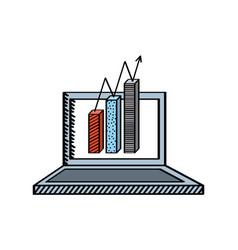 laptop computer icon vector image vector image