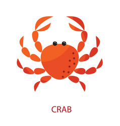red crab cartoon icon vector image vector image
