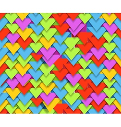 Seamless background of colorful abstract triangle vector image vector image
