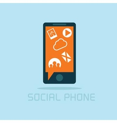 social phone concept flat design vector image vector image