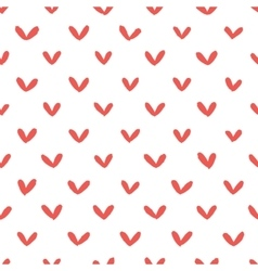 Abstract hand drawn hearts seamless pattern vector image vector image