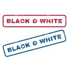 Black White Rubber Stamps vector image