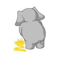 cartoon characters of elephants urinating vector image