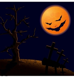 On Halloween night vector image vector image
