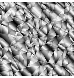 polygonal gray high-tech background vector image vector image