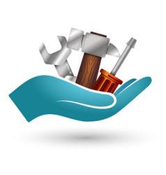 tool for repair in hand vector image