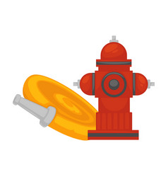 fire extinguishing equipment extinguisher hydrant vector image vector image