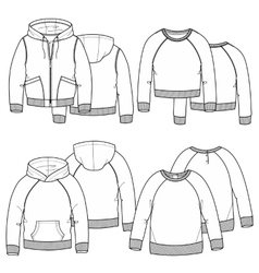 Girls hoodies vector image vector image