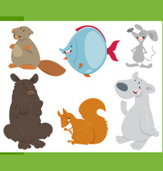 wild animals collection vector image vector image