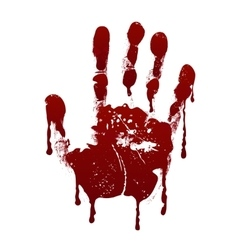 Bloody handprint Horror dirty scary blood vector image vector image