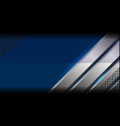 blue abstract metal background vector image vector image
