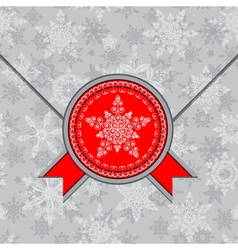 envelope decorated with snowflakes vector image