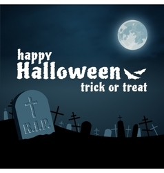 Halloween background cemetery night vector image vector image