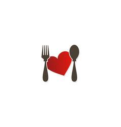 love food taste logo vector image vector image