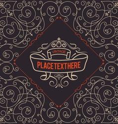 Luxury Ornaments Line Logotype vector image