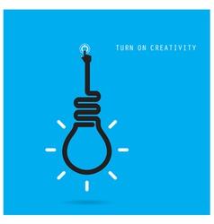 Turn on creative light bulb concept vector