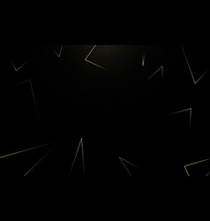 abstract gold luxury lines geometric on black vector image