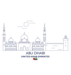 abu dhabi city skyline vector image