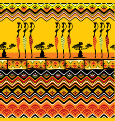 african pattern seamless vector image