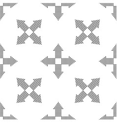 arrows dots in four directions seamless pattern vector image