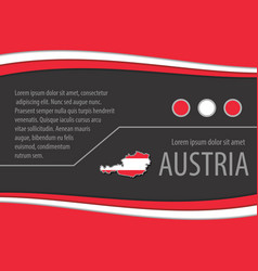 background with austrian colors vector image