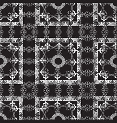 baroque style floral greek seamless pattern vector image