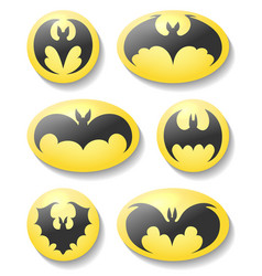 bat buttons set vector image