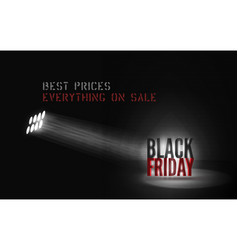 Best prices promo banner template for black vector