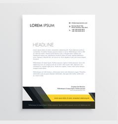 Business letterhead design template vector